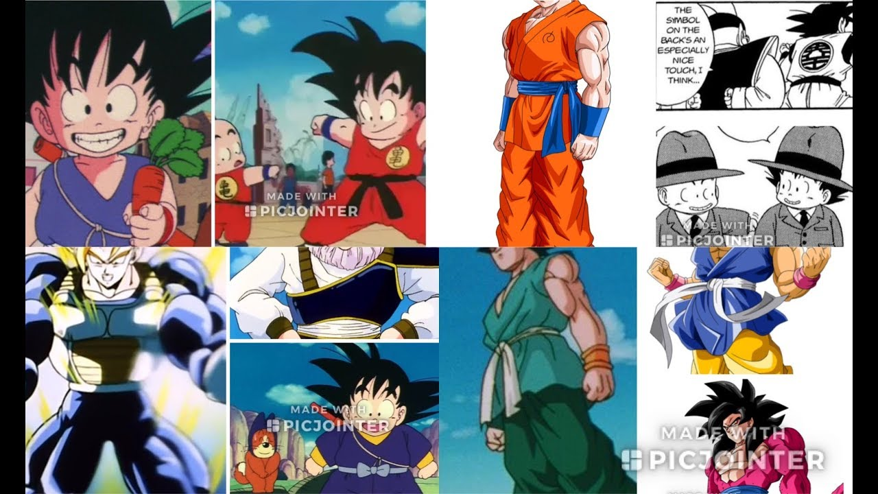 All Of Gokus Gis And Outfits With Symbols Explained Db Dbz Dbs