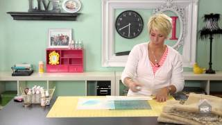 Heidi Swapp- Create to Remember: Stenciling On Burlap