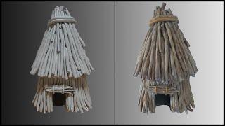 지점토로 움집 만들기 - [DIY] How To Make Grass Hut Using Paper Clay