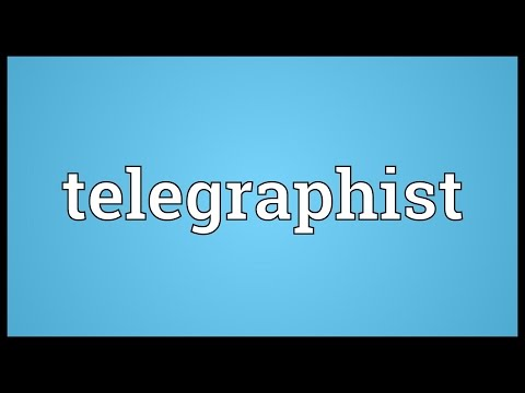 Telegraphist Meaning