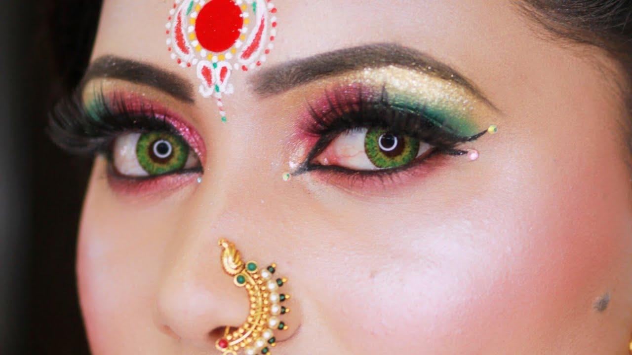 Marathi Wedding Bridal Makeup / Traditional Look Nauvari Saree #marathiwedding