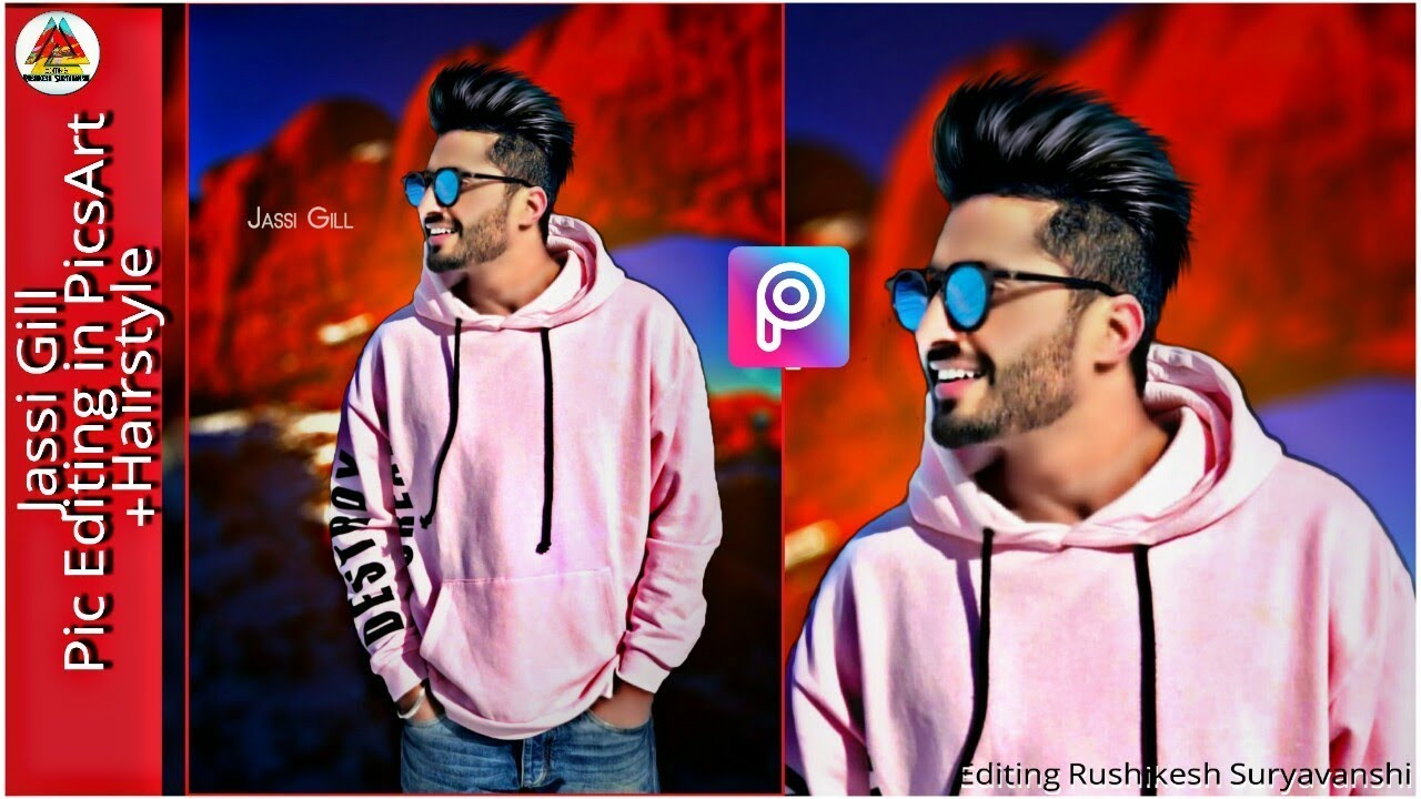 Jassie Gill Pic Editing + Hairstyle in Android Picsart | CreatoMinati