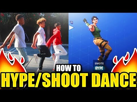 "HOW TO ""HYPE"" DANCE TUTORIAL! FORTNITE DANCE TUTORIAL! (SHOOT DANCE)"