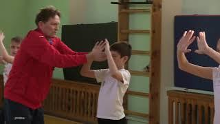 """Конкурс """"Учитель года Алтая 2017"""". Урок в 5 классе - волейбол."""