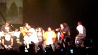 wiz khalifa gets joint thrown to him from crowd!