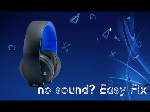 Ps4 headset sound FIX- where people can hear you, but you can't hear them