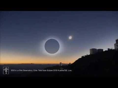 Totale Sonnenfinsternis  02.07.2019 -  La Silla Observatory  ESO-Livestream