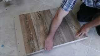 Kitchen sink cabinet bottom wood floor Replacement with Tile Floor after Water Damage part 2