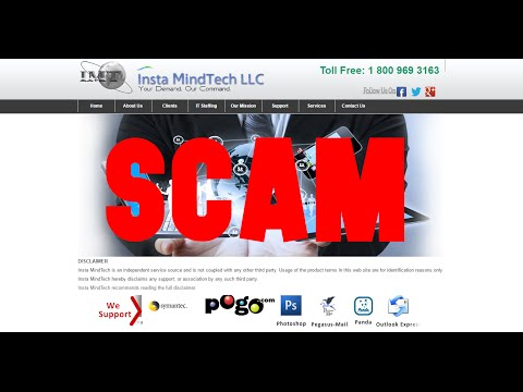 Insta MindTech LLC Tech Support Scam | I'm transferring this call to your father