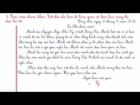 VIẾT THƯ CHO BẠN ĐỂ LÀM QUEN VÀ THI ĐUA HỌC TỐT /TẬP LÀM VĂN LỚP 3 /TIẾNG VIỆT 3 – TẬP 1 #TAPLAMVAN3