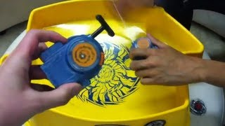 Beyblade REV UP Launcher test - OVER 9000! jk