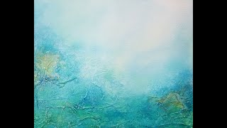 How to Paint with Acrylics - Abstract Layered Textured Art Painting - Ethereal Landscape