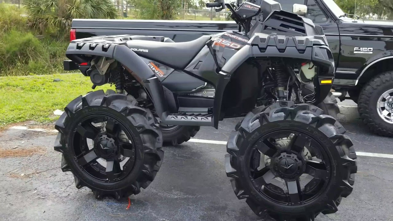 polaris sportsman high lifter 2018 35 tires 20 wheels 6 portals 2 bracket lift [ 1280 x 720 Pixel ]