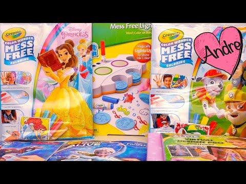 Dibujos Para Colorear De Frozen, Barbie Cobran Vida, Princesas Patrulla Canina | Juguetes Con Andre