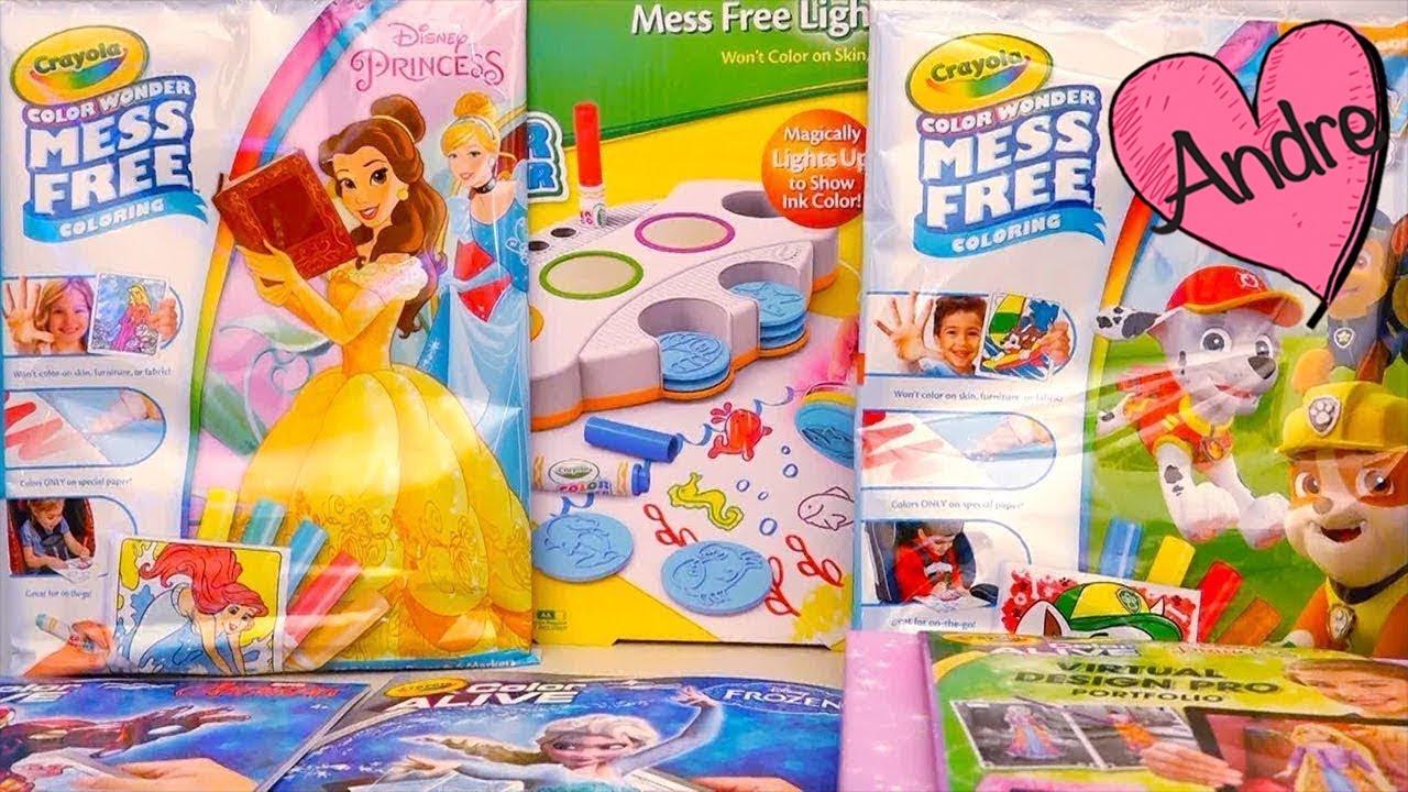Juguetes de colorear  Dibujos de Frozen Barbie MH cobran vida