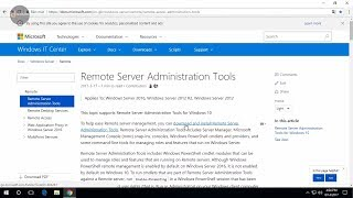 Install and uses Remote Server Administrator Tools for Windows10