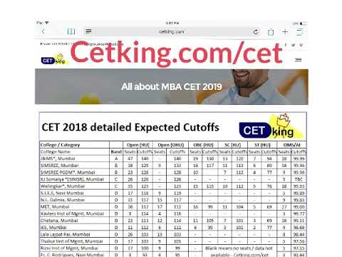 CET 2018. Expected Cutoffs in CAP rounds. Which colleges to select.