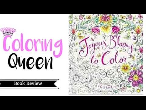 Joyous Blooms To Color Coloring Book Review
