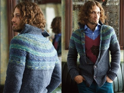 25 Men's Reverse Fair Isle Cardigan, Vogue Knitting Winter 2012/13 ...