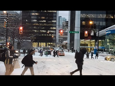 Extreme Vancouver Winter - Go To Work On SNOW Storm Day? Jan 15 2020 (round 3)