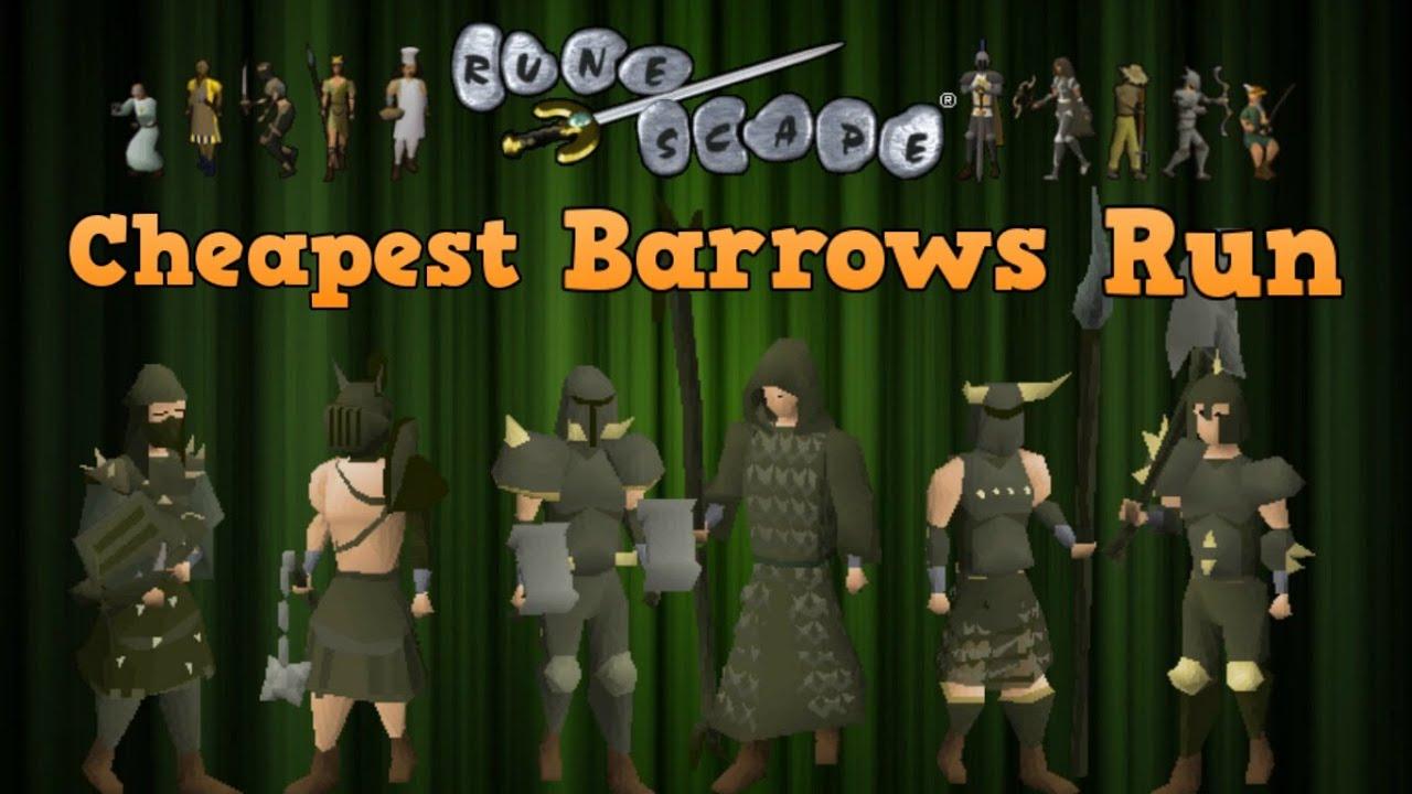 Cheapest Barrows Minigame Run OSRS