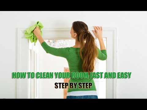 Start cleaning your room from putting any garbage that you find in your room in a bin or make a pile of trash to take to the kitchen trash can. Garbage is easy to identify and just cleaning up garbage can make a room look much cleaner.