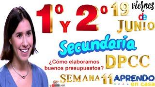 APRENDO EN CASA SECUNDARIA 1 Y 2 DPCC HOY VIERNES 19 DE JUNIO DESARROLLO PERSONAL CIUDADANÍA CÍVICA