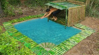 Unbelievable! Build Underground Swimming Pool and Bamboo Pool Around Underground House