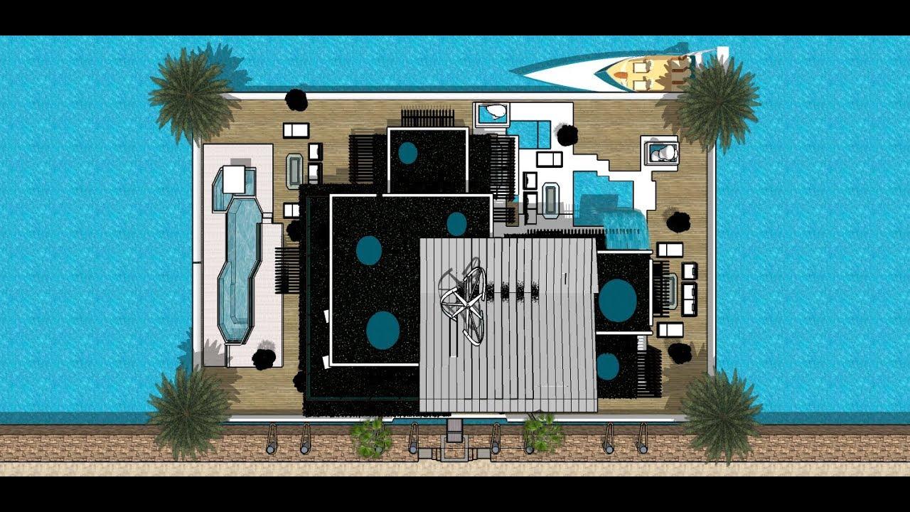 Sketchup Haus Bauen Luxus Leben Sketchup Haus Zeichnen Luxus Designer Waasserhaus Immobilie Malaga