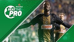 CJ Sapong takes on fan in Crossbar Challenge | Beat the Pro pres. by Heineken