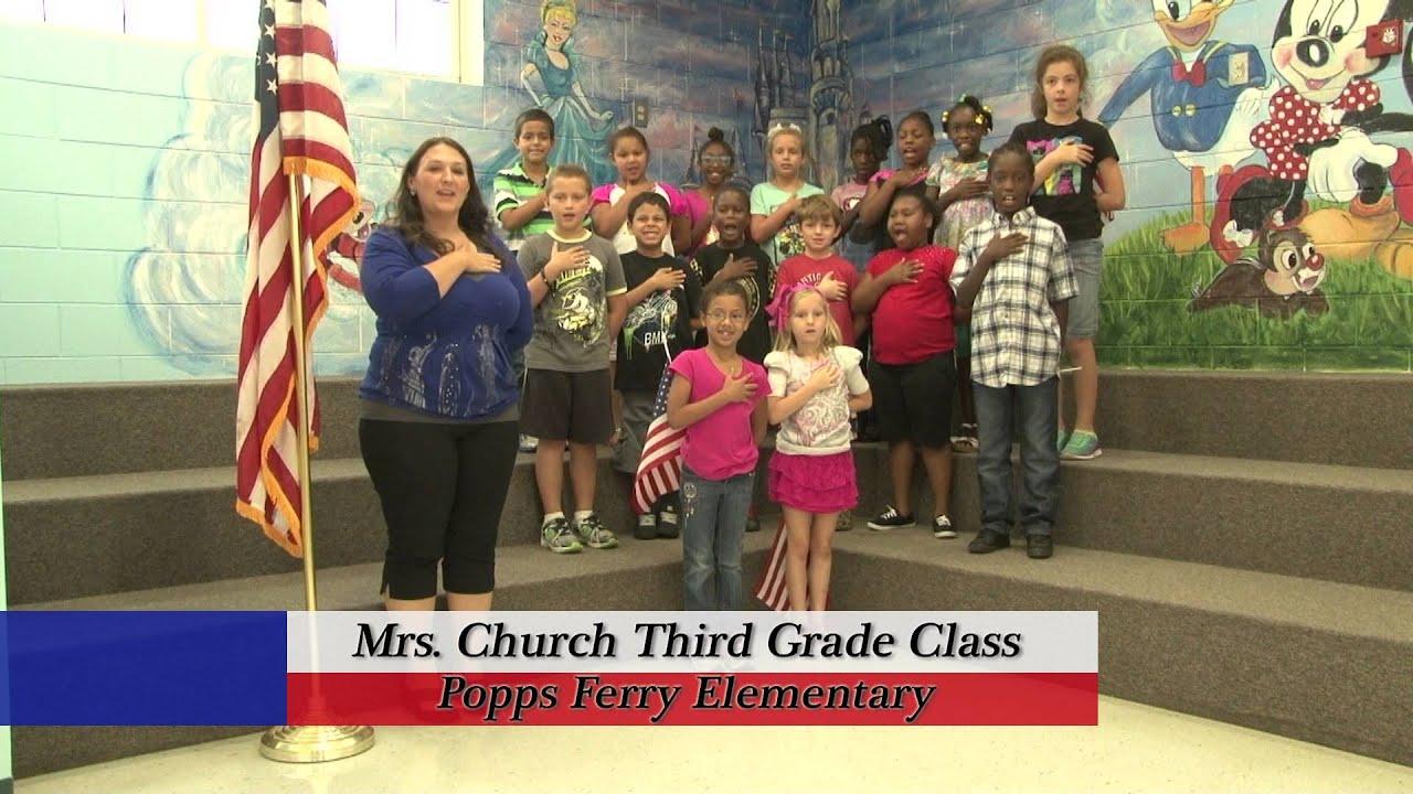 popps ferry elementary   mrs church s first grade class   youtube