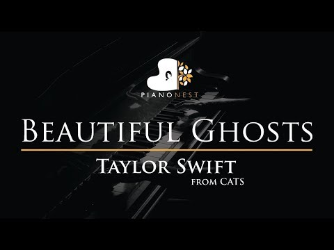 Taylor Swift - Beautiful Ghosts (from CATS) - Piano Karaoke Instrumental Cover with Lyrics thumbnail