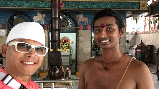 ( TRAVEL ) MEDAN TEMPLE KUIL AGUNG SHRI MARIAMNAN NORTH SUMATRA UTARA WITH THE HINDU YOUNG PRIEST