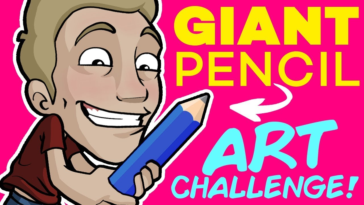 Making ART with a GIANT PENCIL!