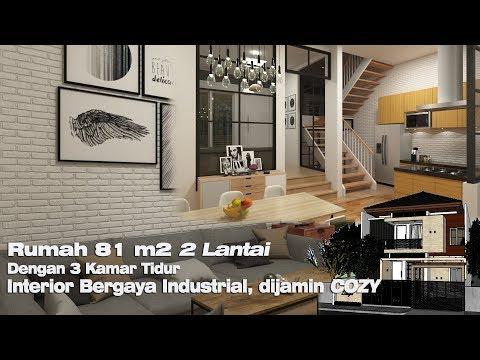 Rumah Minimalis 2 Lantai Ukuran 9x12  rumah 2 lantai dengan lahan seluas 9x15 m youtube