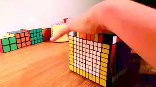 10 by 10 Rubik's Cube Time Lapse Solve