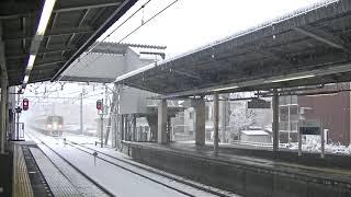 西武鉄道2047F 各停国分寺行 雪の新所沢到着