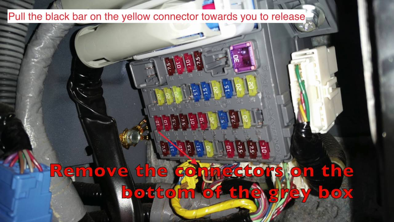 2010 Accord Fuse Box Manual Of Wiring Diagram Honda 2007 Cr V Multiplexer Replacement Youtube Crosstour