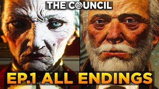 THE COUNCIL - Episode 1: The Mad Ones - ALL ENDINGS (Good & Bad Ending)