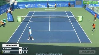 Matthew Ebden hits 4 double faults in a row against Mohamed Safwat at the Bangalore challenger 2020