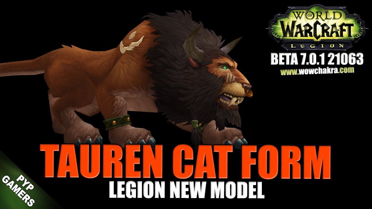 WoW] Tauren cat form 2 new model   World of Warcraft Legion (Beta ...