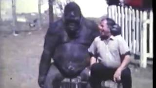 600 pound Gorilla. Bob and Mae Noell with Gorillas as pets