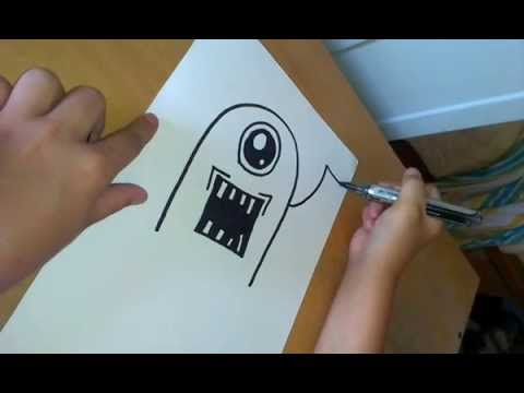 How to draw a Graffiti Monster :)