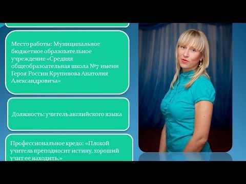 Портфолио учителя - Презентация практических  достижений учителя английского языка