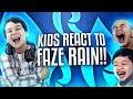 KIDS REACT TO FAZE RAIN!!