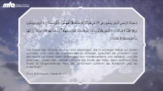 Quran - Sura Al Furqaan Vers 64 bis 67