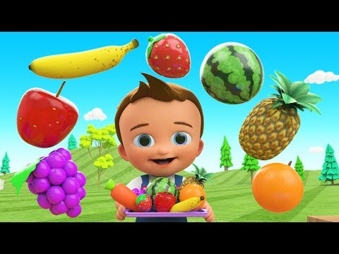 Learn Colors & Fruits Names  for Children with Little Baby F