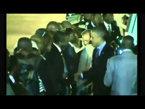 Obama arrives in Senegal for first leg of Africa trip