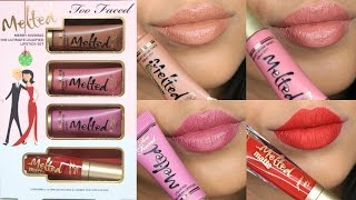NEW Too Faced Merry Kissmas The Ultimate Liquified Lipstick Set Lip Swatches & Review | Arzan Blogs