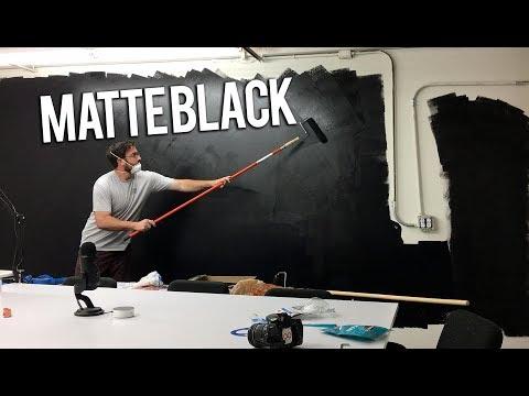 Painting my wall MATTE BLACK! **OFFICE PROGRESS**